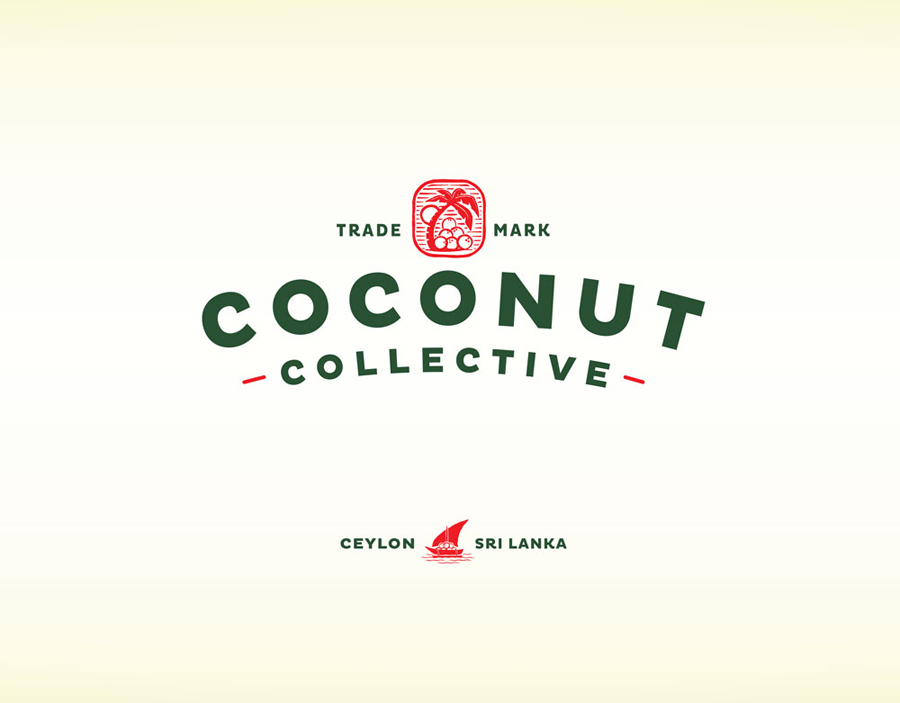 Logo for organic, flavoured, coconut water brand The Coconut Collective by Marx Design