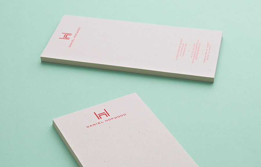 Logo and stationery design by Two Times Elliott for Daniel Hopwood