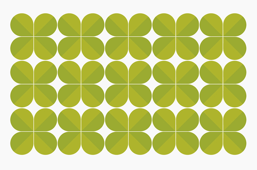 Leaf pattern created by Designers Anonymous for Russian fast food cafe Fresh Point