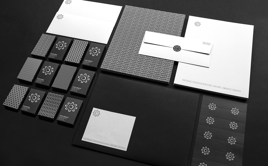 Logo and stationery for Function Engineering designed by Sagmeister & Walsh