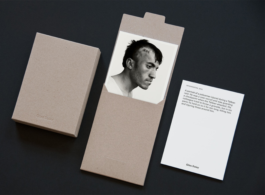 Stationery for photographer Giles Duley designed by Shaz Madani