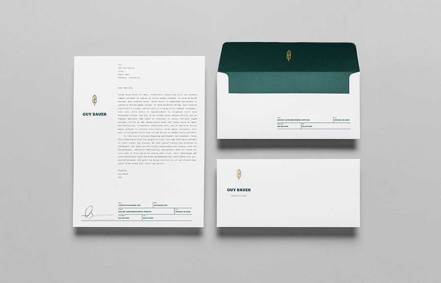 Logo and stationery design by Anagrama for Guy Bauer