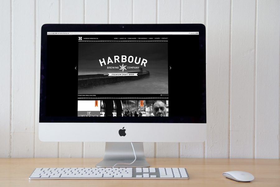 Website designed by A-Side Studio for Harbour Brewing Co.