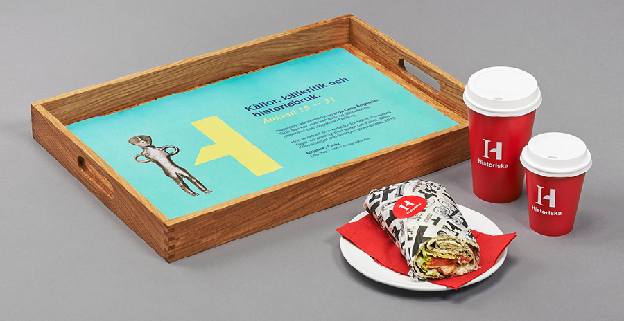 Logo and packaging for the Swedish History Museum designed by Bold