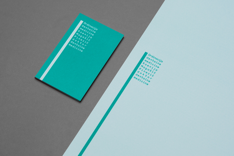 Logo, business card and letterhead designed by Studio8585 for Croatian dental practice run by Dr. Ksenija Magašić Pinezić