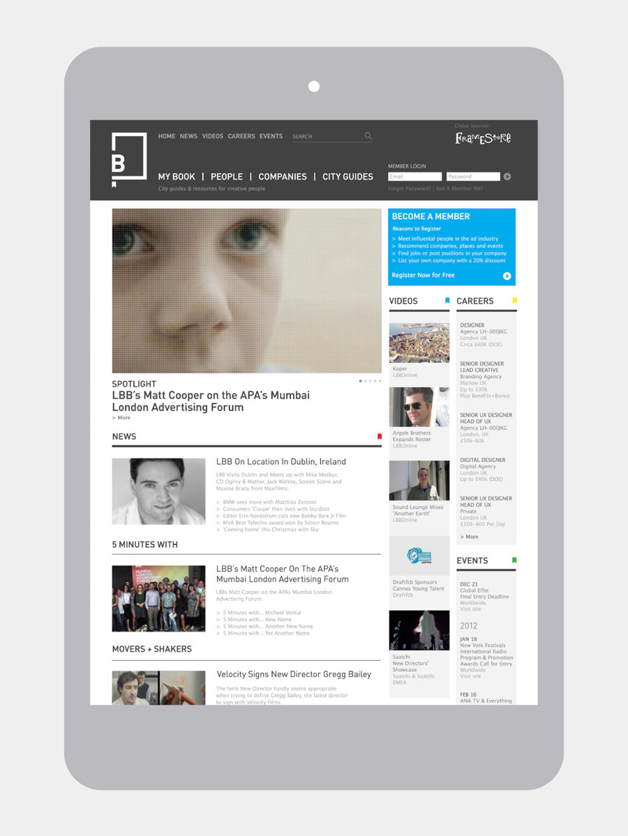 Logo and website created by Freytag Anderson for advertising industry guide Little Black Book