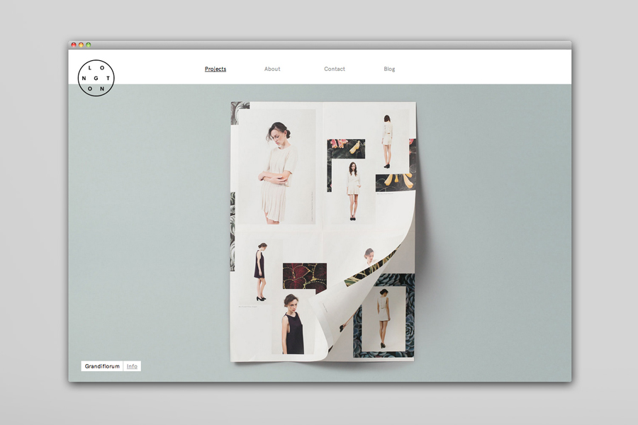 Logo and website by and for design studio Longton