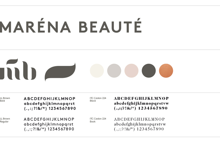 Logo designed by We Are Bold for Maréna Beauté