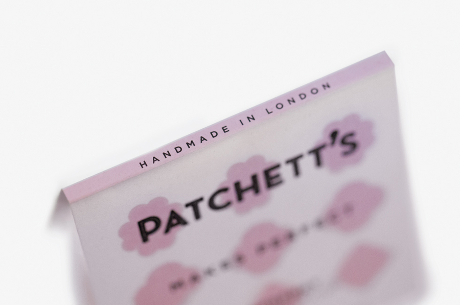 Packaging for gourmet confectioner Patchett's marshmallow range created by Designers Anonymous