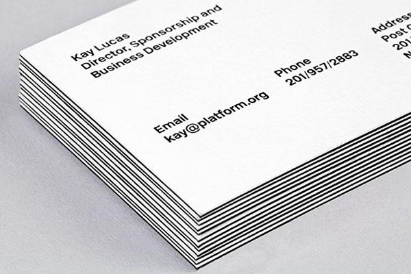 Logo and duplex business card designed by Pentagram for not-for-profit, technology and entrepreneurship organisation Platform