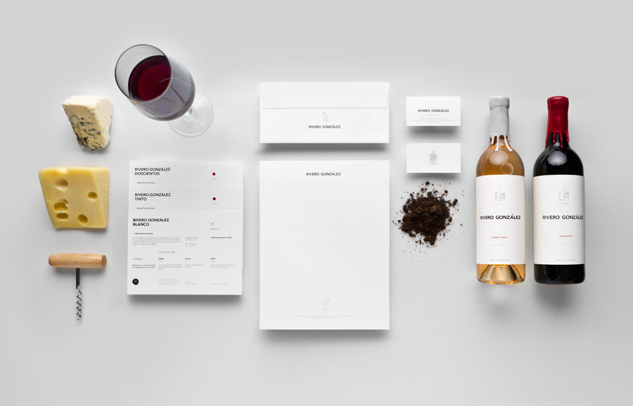 Logo, stationery and packaging developed by Anagrama for Rivero Gonzalez