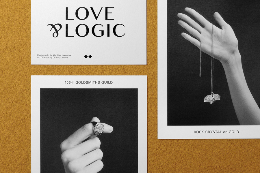 Logo and printed collateral for jewellery retailer Sancy & Regent designed by OK-RM