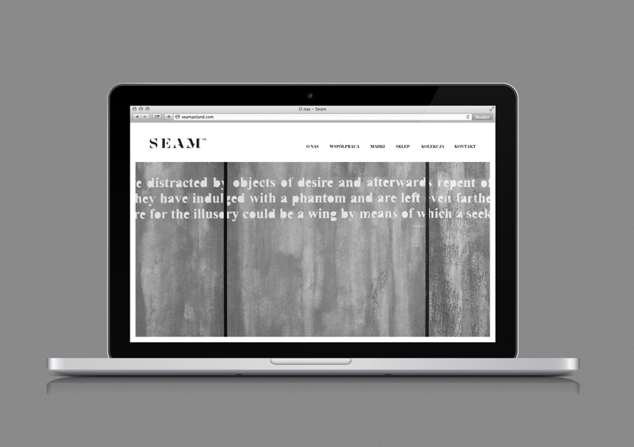 Logo and website designed by For Brands for fashion brand Seam
