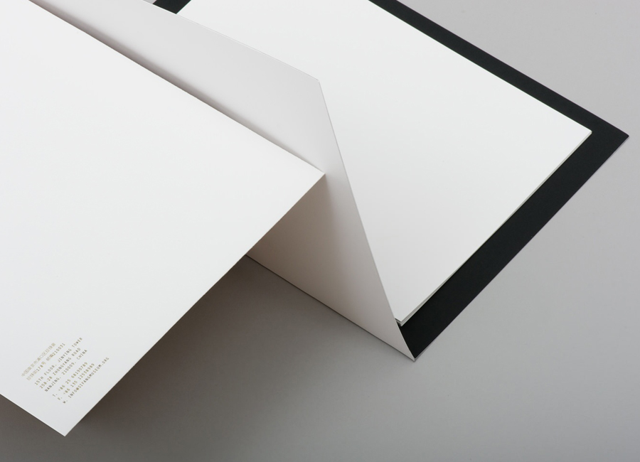 Stationery with folded detail for gallery and creative space Sifang Art Museum, designed by Foreign Policy