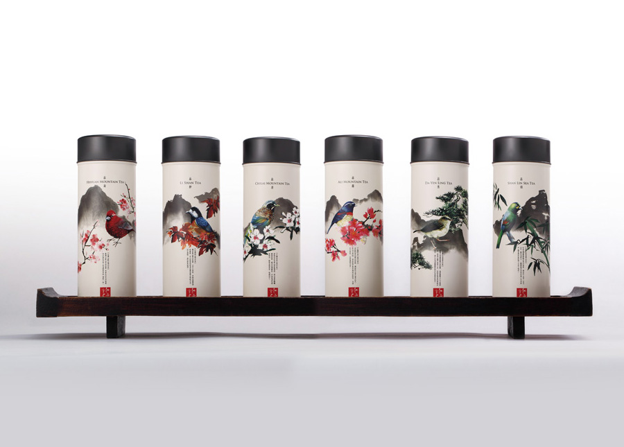 Packaging design for Taiwan High Mountain Tea created by Victor Design