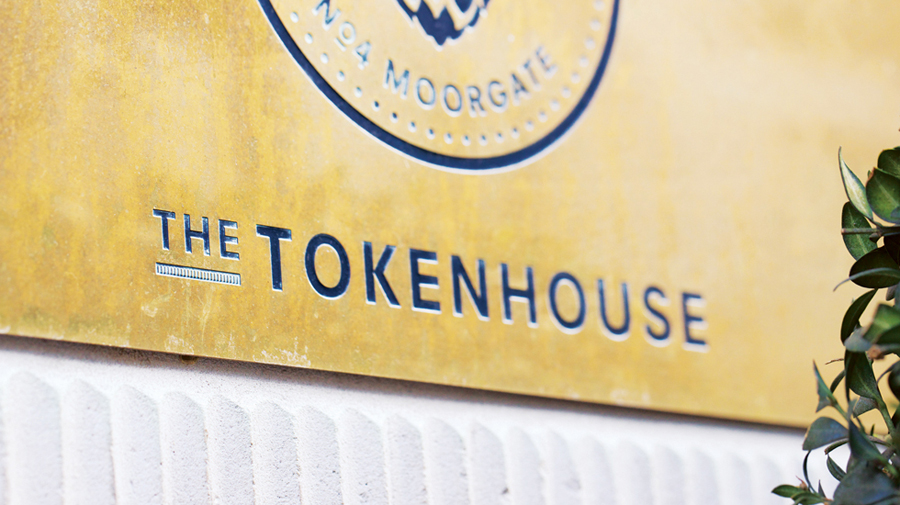 Logo and signage created by Designers Anonymous for The Tokenhouse