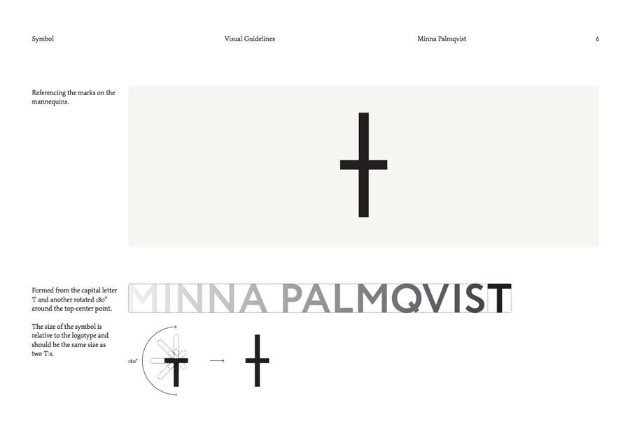 Brand guidelines created by Bedow for fashion designer and label Minna Palmqvist
