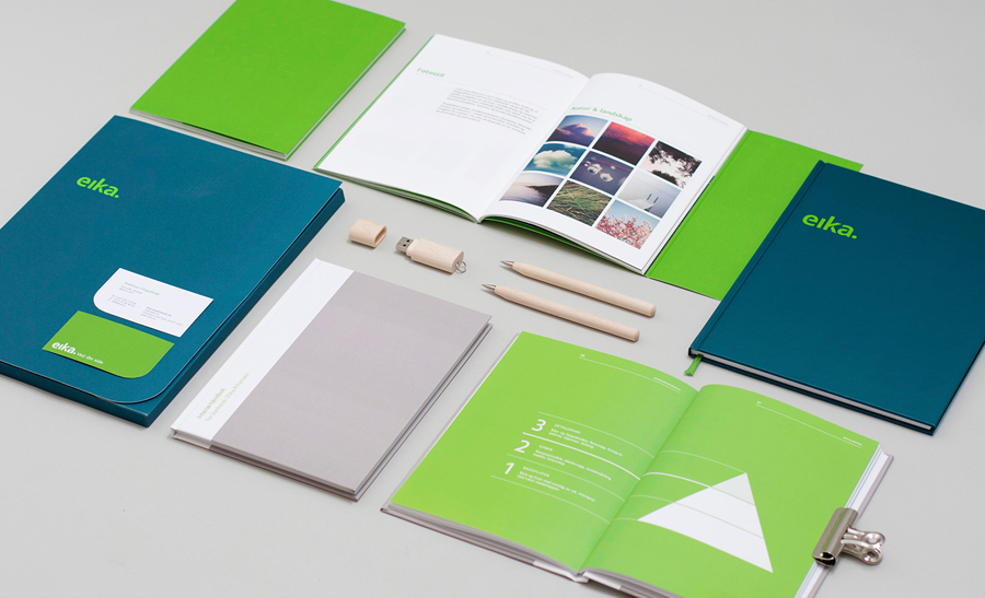 Logotype and stationery designed by Mission for local bank alliance Eika
