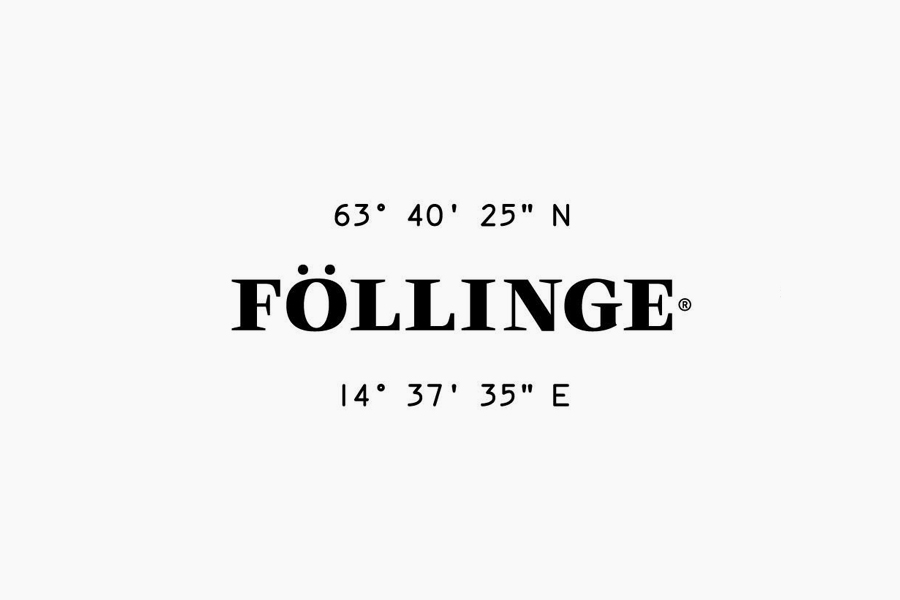 Logotype designed by Amore for Swedish organic skincare range from Föllinge