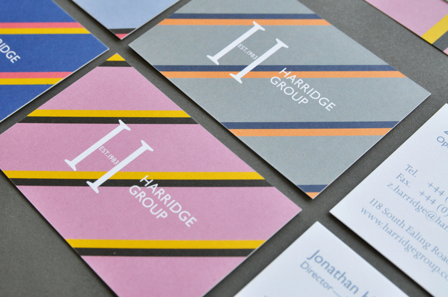 Logo design and stationery design by Igloo for corporate travel company Harridge Group