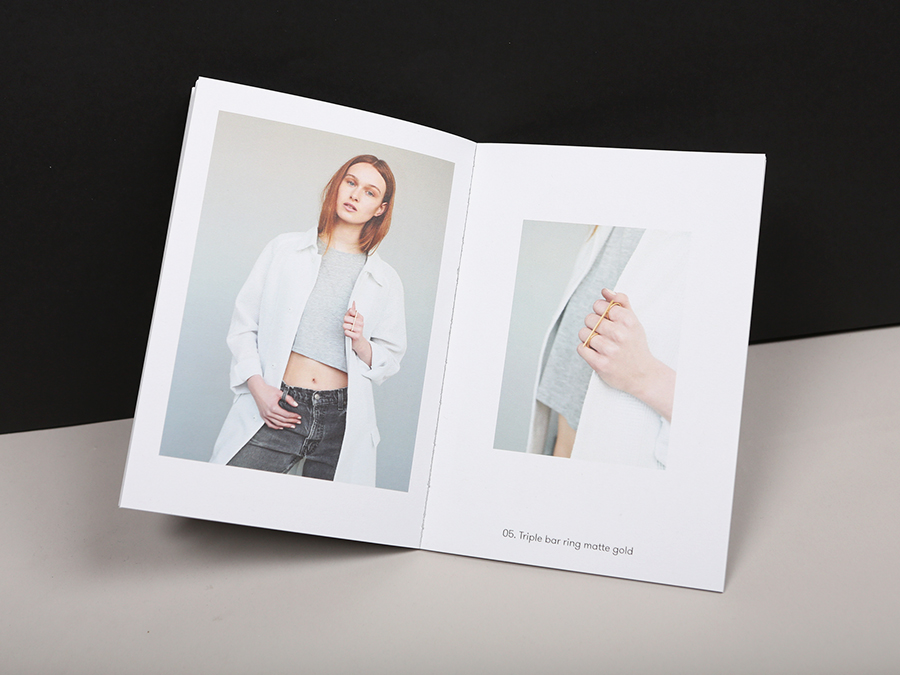 Lookbook for contemporary jewellery designer Iona Brown designed by Sam Flaherty