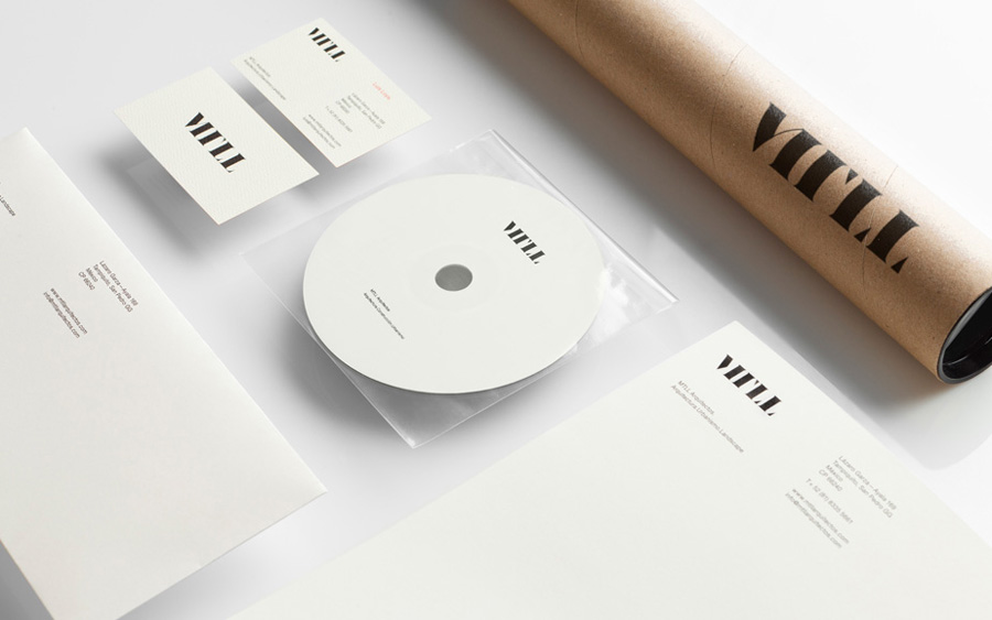 Logo and stationery designed by Anagrama for architecture and landscaping firm MTLL