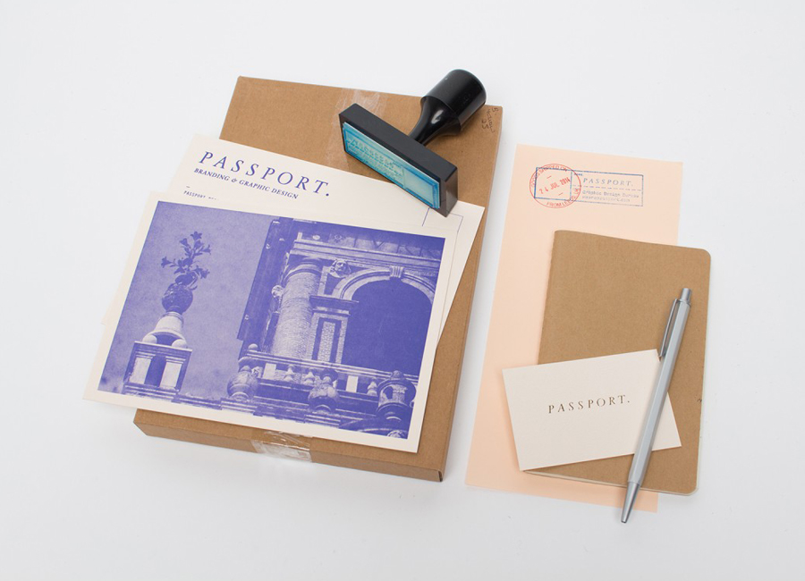 Hand stamped stationery and business cards for Leeds based design studio Passport
