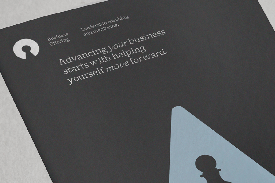 Print designed by Re for executive coaching and mentoring service The Confidante