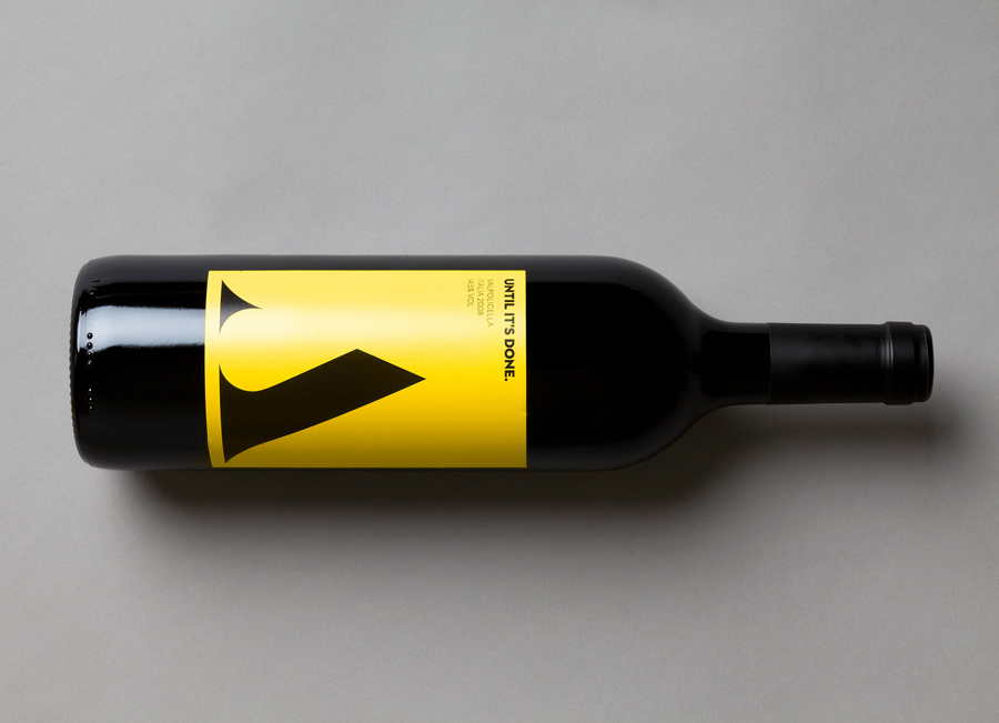 Wine label designed by Bond for Finnish information system development and optimisation company Attido