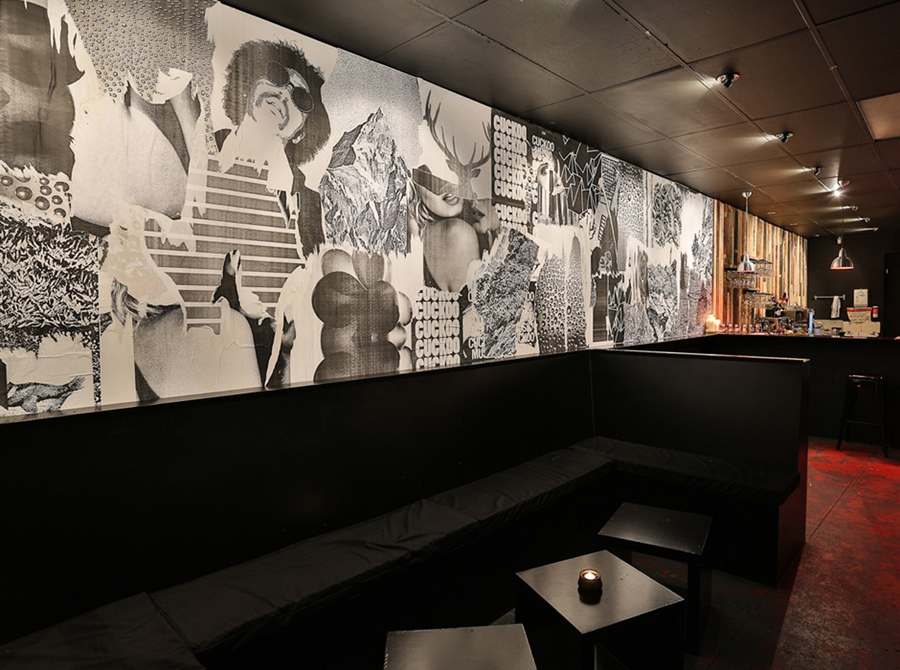 Wallpaper designed by Band for underground electronic music venue, cocktail and tapas bar Cuckoo
