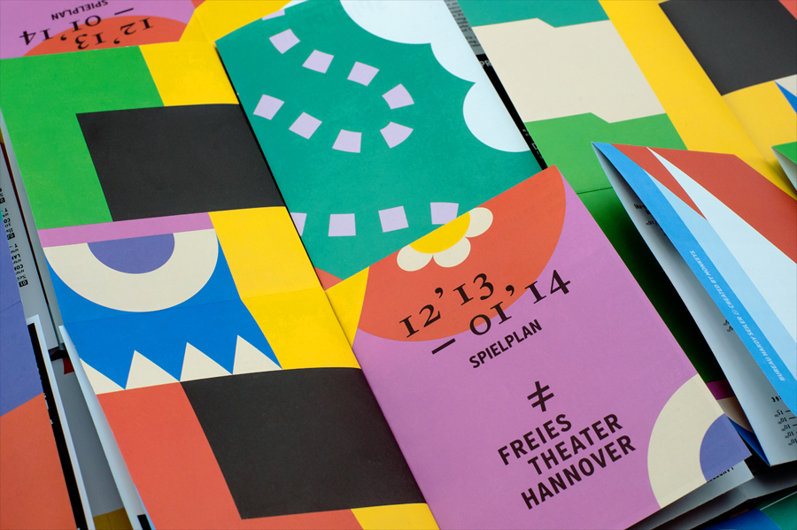 Programme with bright illustrative detail for Freies Theater Hannover by Bureau Hardy Seiler