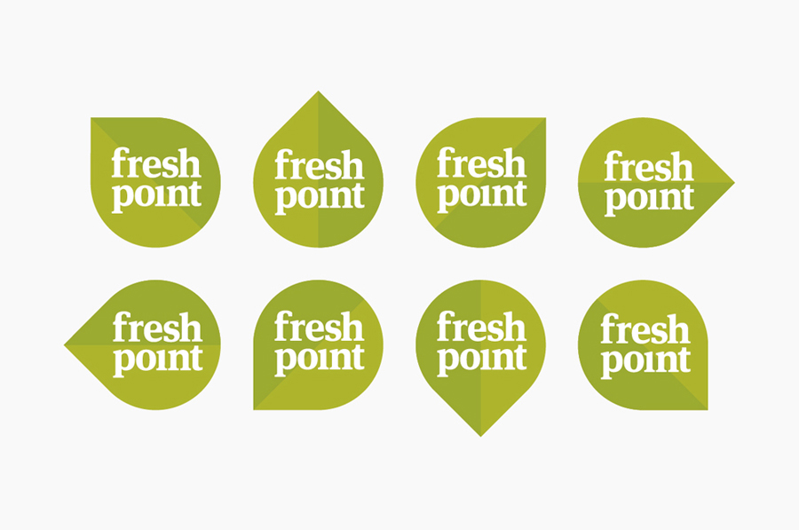 Logo set created by Designers Anonymous for Russian fast food cafe Fresh Point