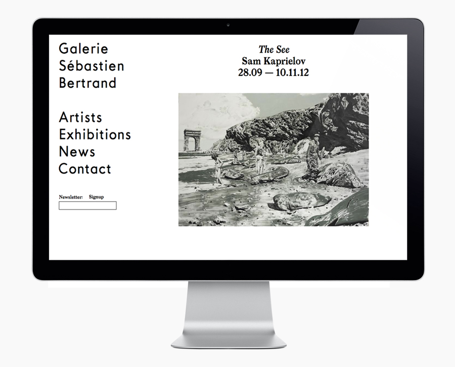 Logo and website designed by Neo Neo for Sébastien Bertrand contemporary art gallery