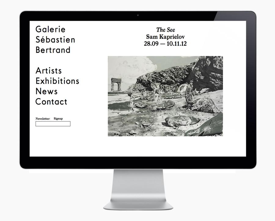 Logo and website designed by Neo Neo for Sébastien Bertrand contemporary art gallery