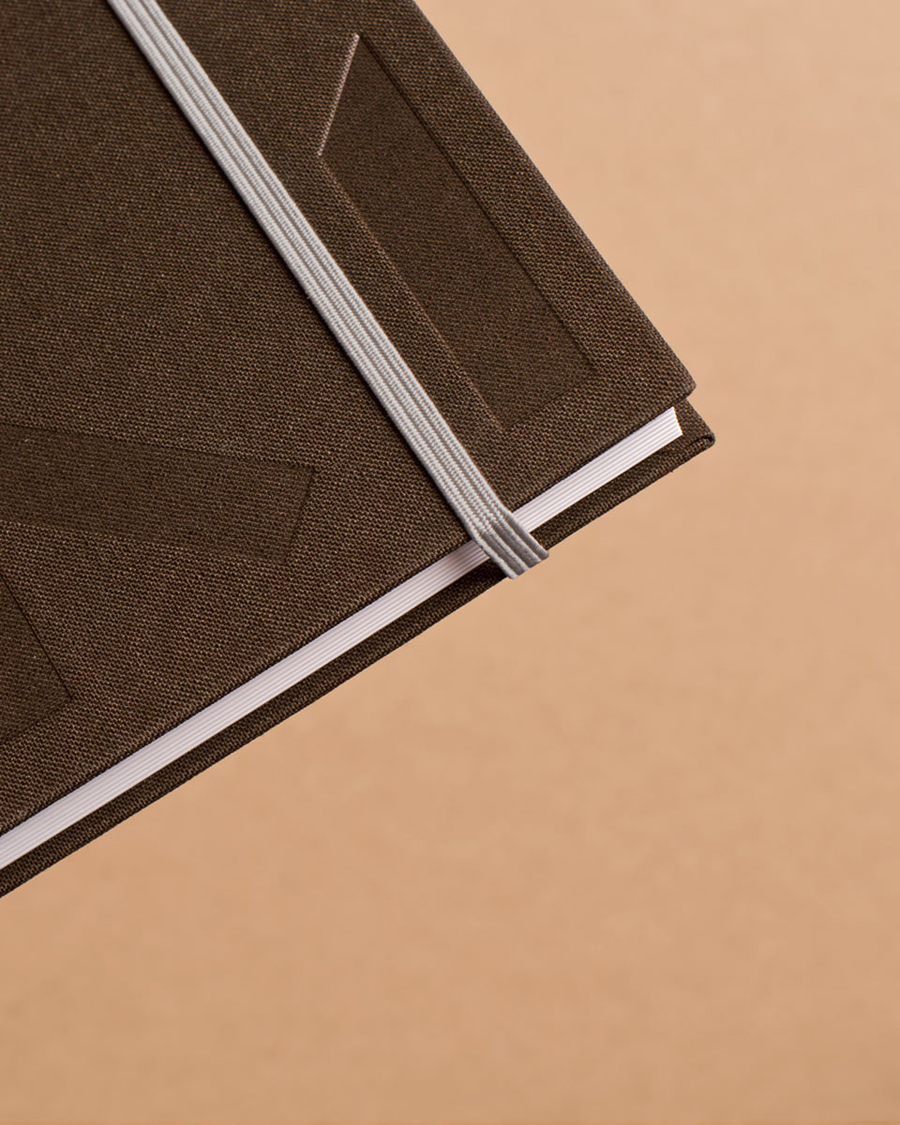 Notepad with blind deboss detail designed by Heydays for architecture firm Mellby