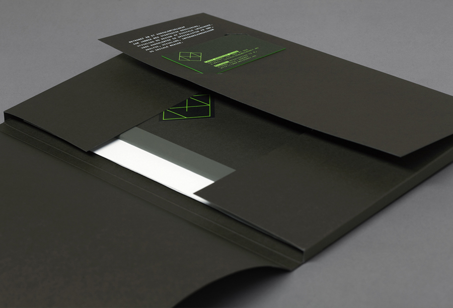 Logo, folder and business card designed by Work In Progress for Metronet