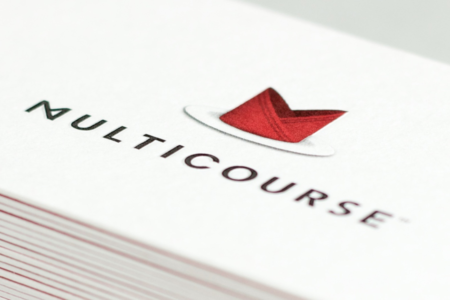 Logo and print for Multicourse by Bravo Company