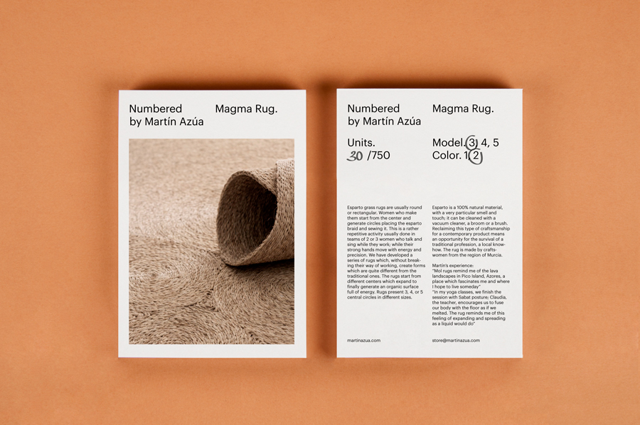New Brand Identity for Numbered by Martín Azúa by P.A.R