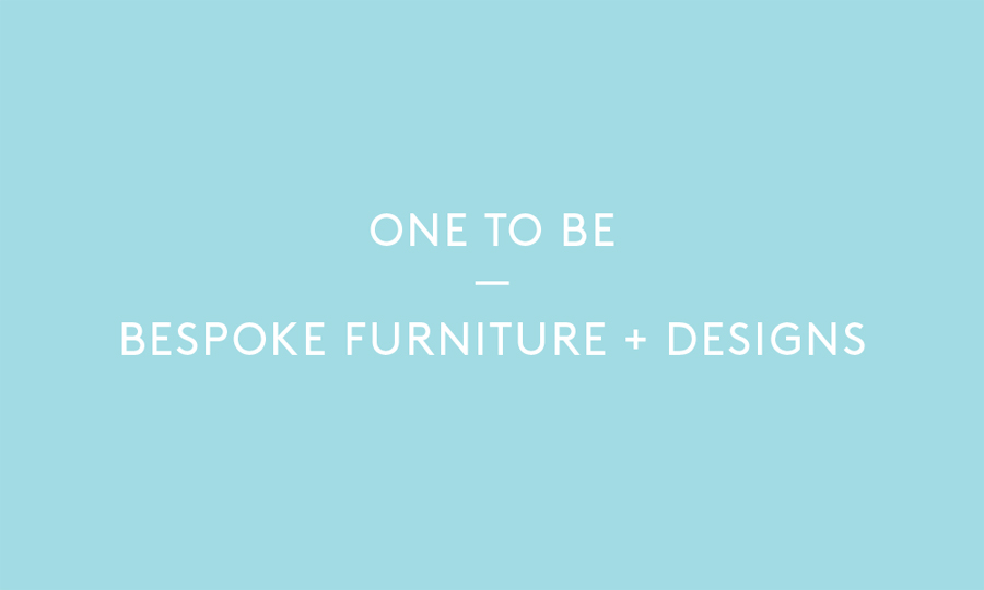Logo created by Coast for furniture design and manufacturing workshop One To Be