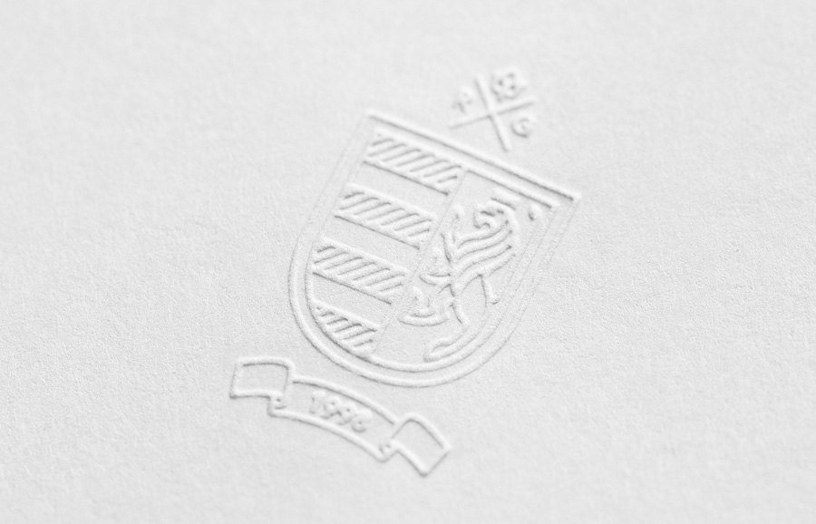 Embossed logo detail developed by Anagrama for wine producer Rivero Gonzalez
