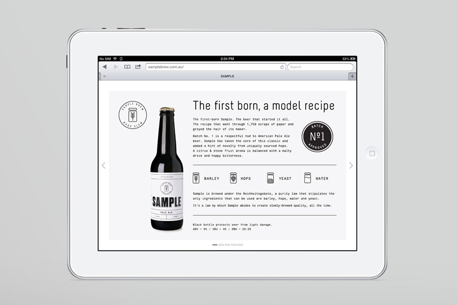 Website designed by Longton for Sample Brew