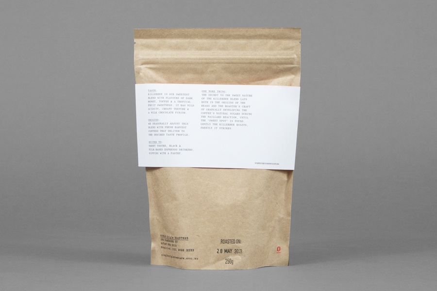 Coffee packaging for Single Origin Roasters designed by Maud