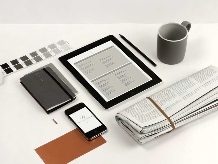 Stationery and website design by The Clocksmiths