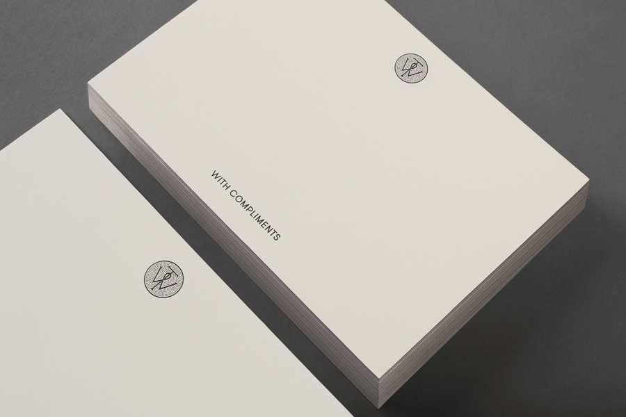 Monogram and compliment slip designed by Bunch for business consultancy Willow Tree