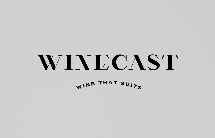 Logo designed by Anagrama for online wine-tasting, curation and delivery service Winecast