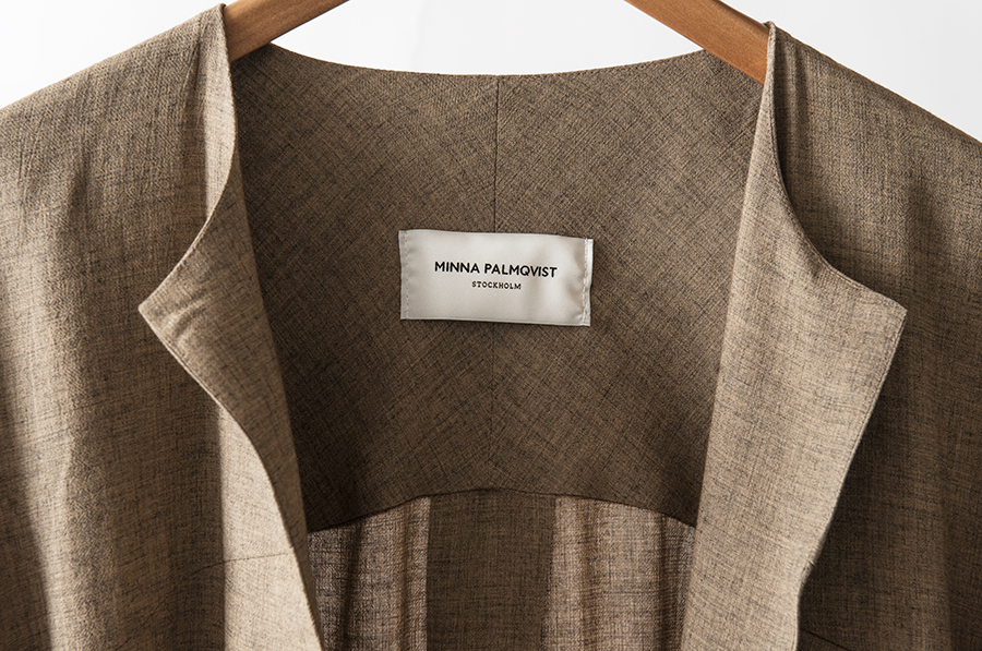 Logotype and label designed by Bedow for fashion designer and label Minna Palmqvist