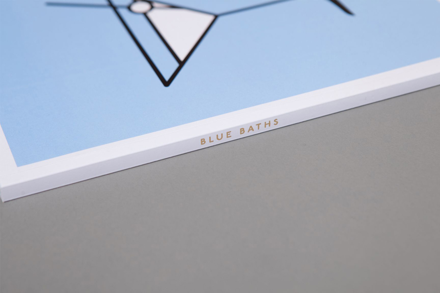 Print with gold foil detail designed by Ryan Romanes for Blue Baths