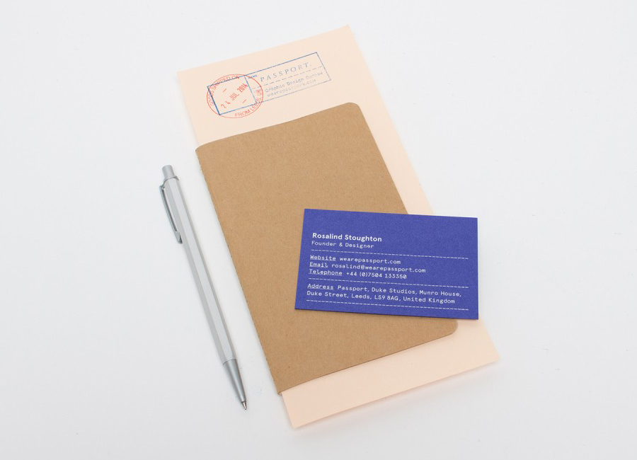 Stationery and business cards for Leeds based design studio Passport