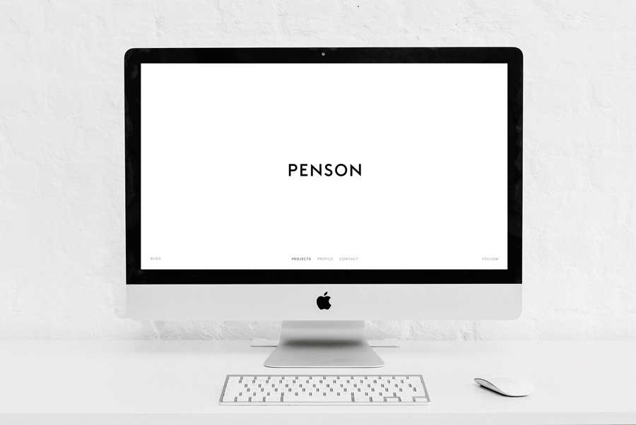 Logotype and website for interior design firm Penson Group created by She Was Only