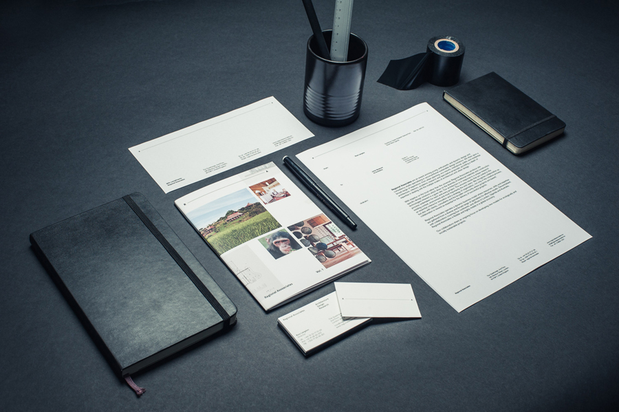 Stationery designed by Commando Group for architecture and research consultancy Regional Associates